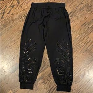 Anthropologie Cutout Joggers